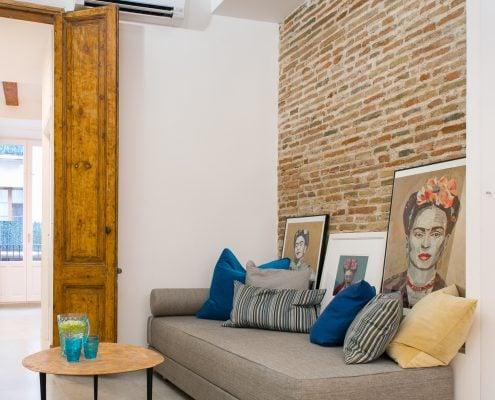 fotografía de interiorismo de la decoración de un comedor en Barcelona