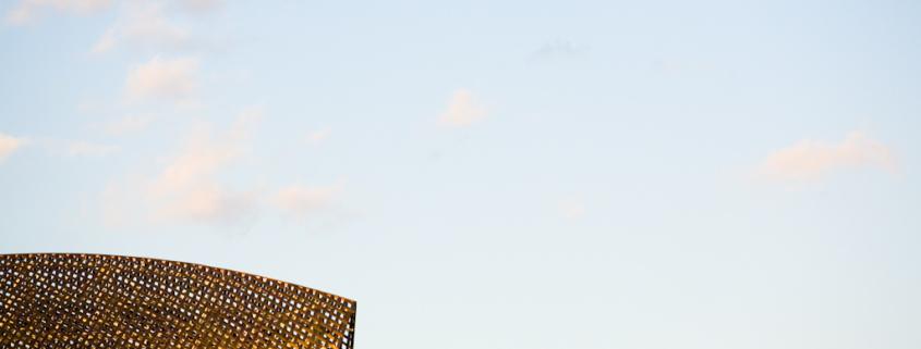 Fotografía de la instalación de Frank Gehry
