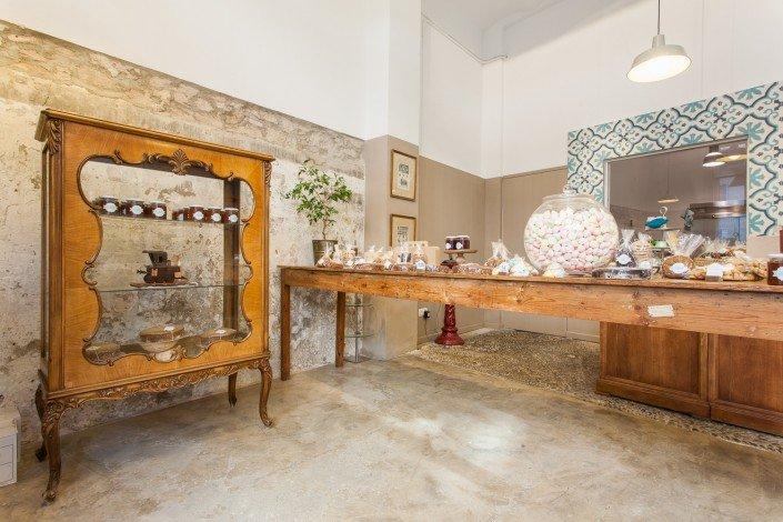 Fotografía de iteriorismo en la pastelería nana yoti