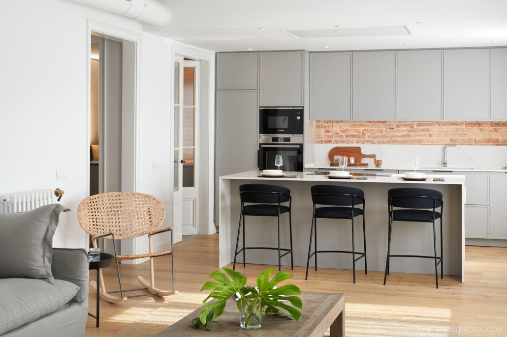 Fotografía de interiorismo de una cocina