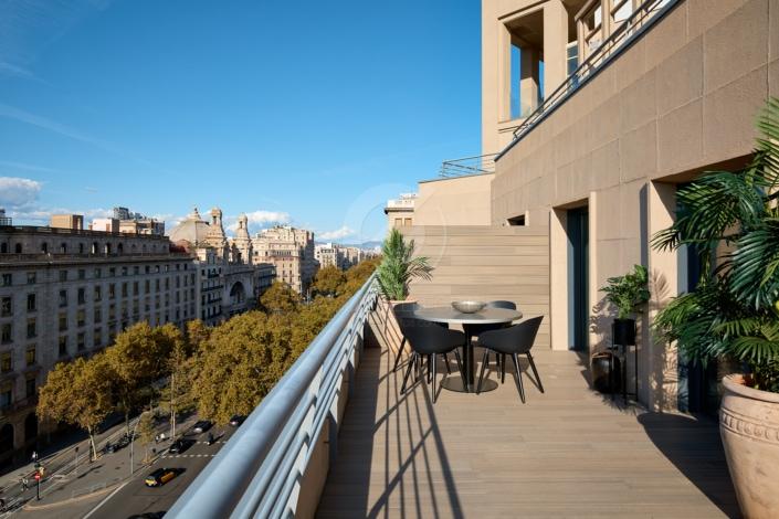 Fotografía inmobiliaria de una terraza