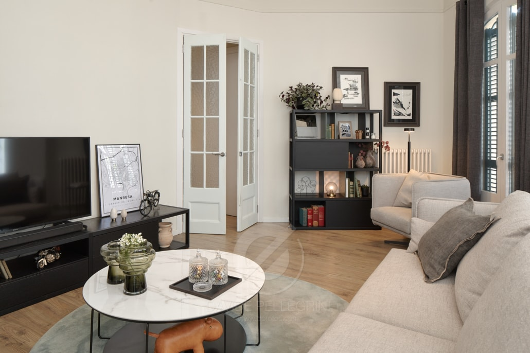 Reportaje de el amueblado de un apartamento